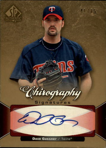 Photo of 2006 SP Authentic Chirography #DG David Gassner/75
