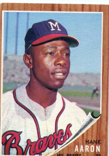 Photo of 1962 Topps #320 Hank Aaron -- Braves Hall of Famer