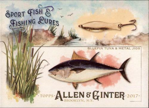 Photo of 2017 Topps Allen and Ginter Sport Fish and Fishing Lures #SFL15 Bluefin Tuna