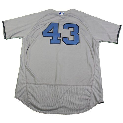 Photo of Adam Warren New York Yankees Team-Issued #43 Father's Day Jersey and Hat Set (6/18/2017)