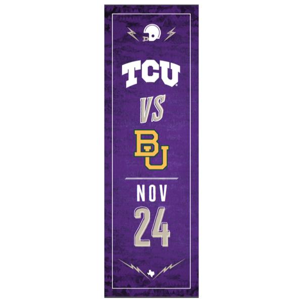 TCU vs. Baylor Football Street Banner (C)