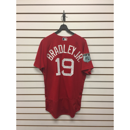 Photo of Jackie Bradley Jr. Team-Issued 2017 Spring Training Jersey
