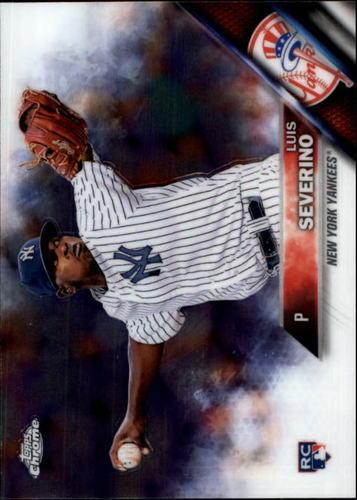 Photo of 2016 Topps Chrome #33A Luis Severino Rookie Card -- Yankees post-season