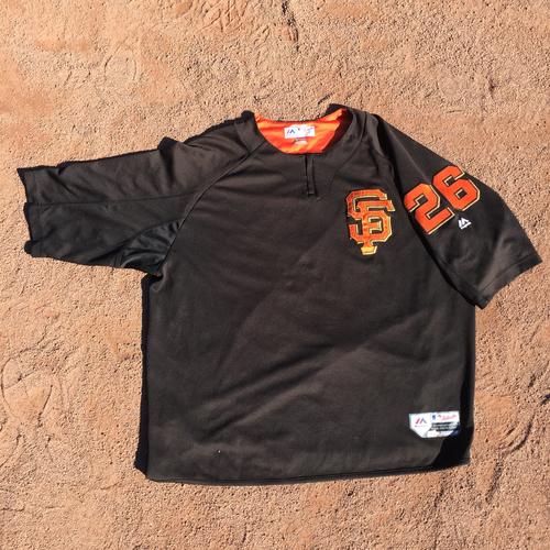 San Francisco Giants - 2017 Game-Used Batting Practice Jersey Worn by #26 Mark Gardner (Size: 2XL)
