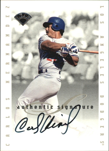 Photo of 1996 Leaf Signature Extended Autographs #77 Carlos Hernandez