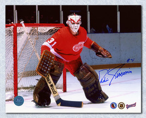 Ed Giacomin Detroit Red Wings Autographed 8x10 Photo