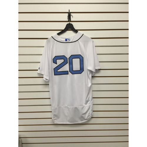 Photo of Ruben Amaro Jr Game-Used 2016 Father's Day Home Jersey