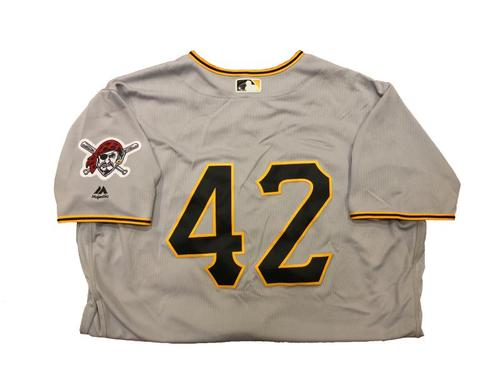 Photo of Tyler Glasnow Game-Used Jackie Robinson Day Jersey (5.0 IP, 7 SO, 4 ER)