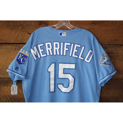 Photo of Whit Merrifield Game-Used Jersey: CWS at KC - Sep 19, 2016