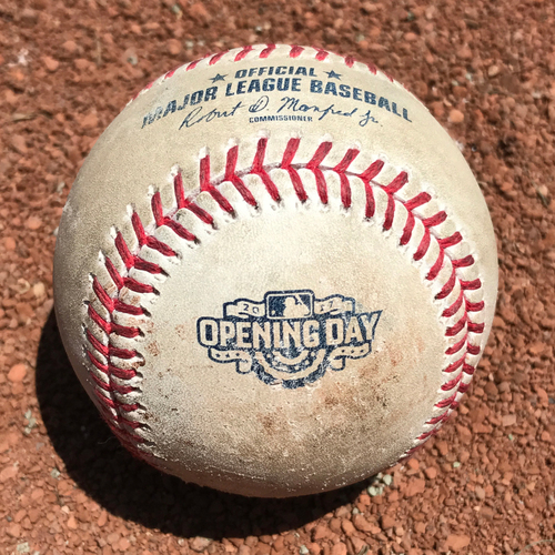 Photo of San Francisco Giants - Game-Used Baseball - Opening Day April 10th, 2017