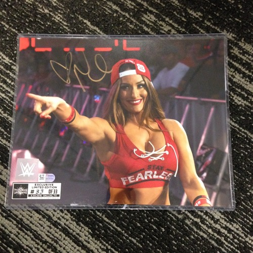 Nikki Bella SIGNED 8 x 10 Limited Edition WrestleMania 33 Photo (#33 of 33)