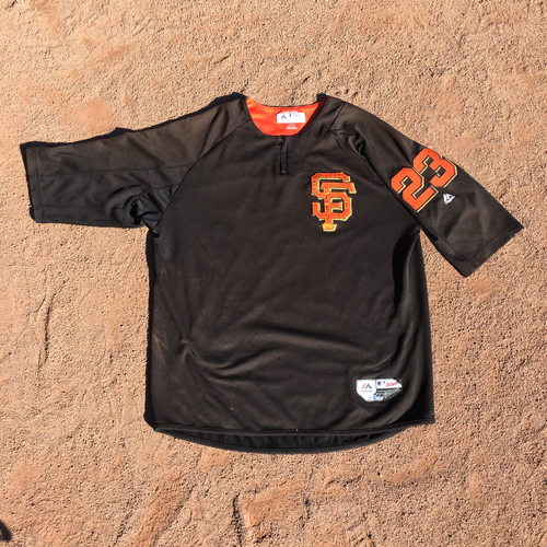 San Francisco Giants - 2017 Game-Used Batting Practice Jersey Worn by #23 Ron Wotus (Size: XL)