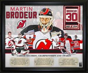 Martin Brodeur - Framed 16x20 Career Collage