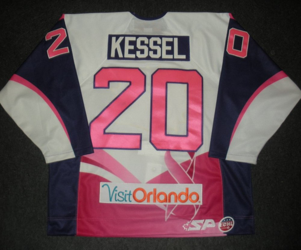 Blake Kessel - Orlando Solar Bears - Hockey Fights Cancer Game-Worn Jersey