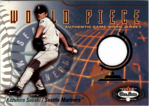 Photo of 2003 Fleer Box Score World Piece Game Jersey #KS Kazuhiro Sasaki