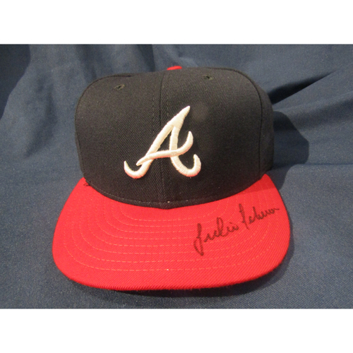 Braves Charity Auction - Julio Teheran Autographed Hat
