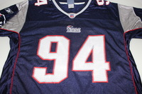 PATRIOTS - TY WARREN SIGNED PATRIOTS REPLICA JERSEY - SIZE L