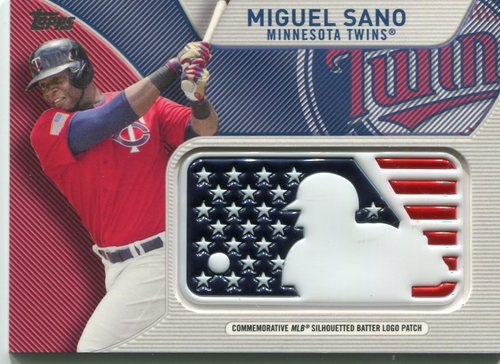 Photo of 2017 Topps Independence Day MLB Logo Patch #IDMLMSA Miguel Sano