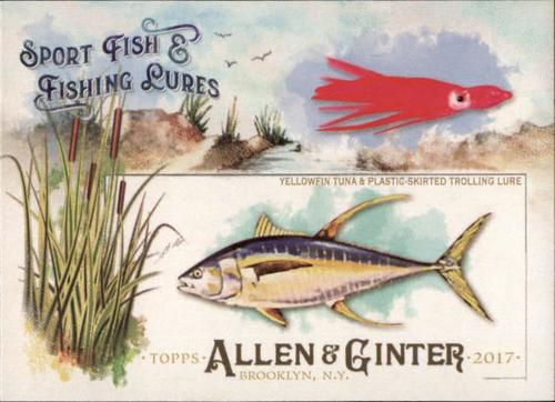 Photo of 2017 Topps Allen and Ginter Sport Fish and Fishing Lures #SFL16 Yellowfin Tuna