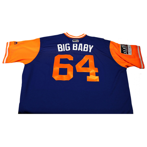 """Photo of Chris """"Big Baby"""" Flexin New York Mets Game-Used Players Weekend Jersey"""