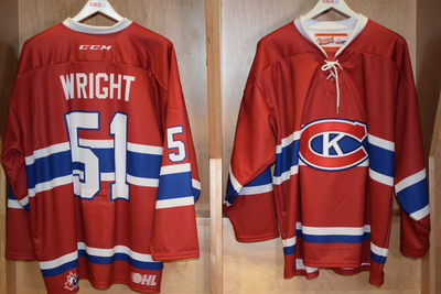 #51 Shane Wright Game Issued Kingston Canadians Jersey