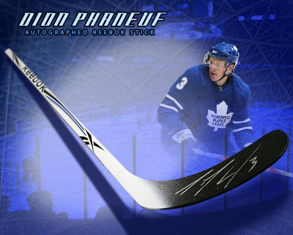 DION PHANEUF Signed Reebok Stick - Toronto Maple Leafs
