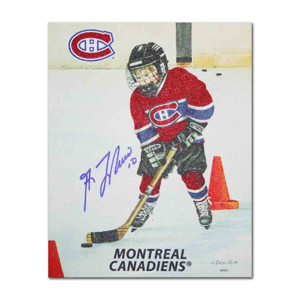 Guy Lafleur Autographed Montreal Canadiens 8X10 Canvas