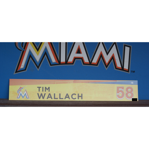 Photo of Tim Wallach Locker Tag