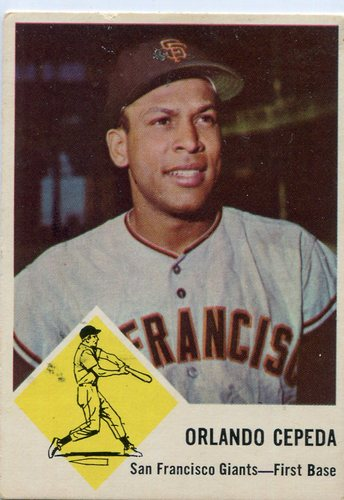 Photo of 1963 Fleer #64 Orlando Cepeda -- Giants Hall of Famer
