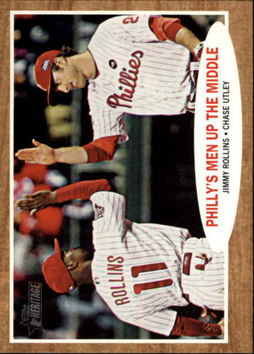 Photo of 2011 Topps Heritage #72 Jimmy Rollins/Chase Utley