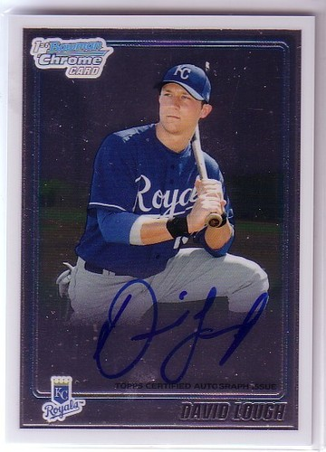 Photo of 2010 Bowman Chrome Prospects #BCP107B David Lough AU