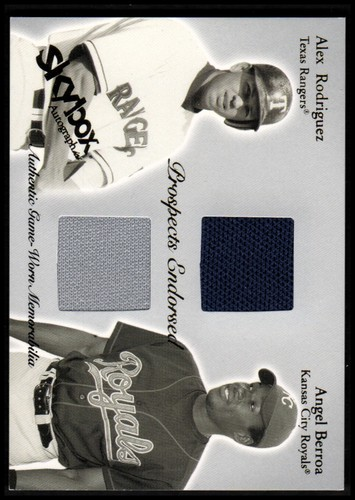 Photo of 2004 SkyBox Autographics Prospects Endorsed Dual Jersey #ARAB Alex Rodriguez/Angel Berroa