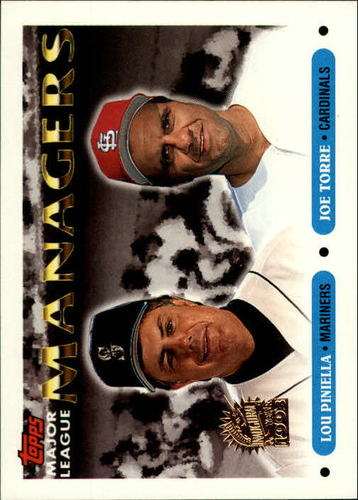 Photo of 1993 Topps Inaugural Marlins #512 Lou Piniella MG/Joe Torre MG