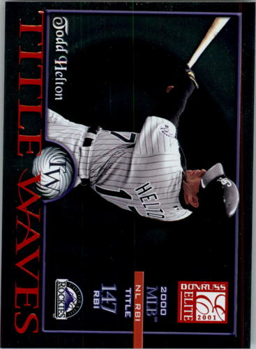 Photo of 2001 Donruss Elite Title Waves #TW16 Todd Helton/2000