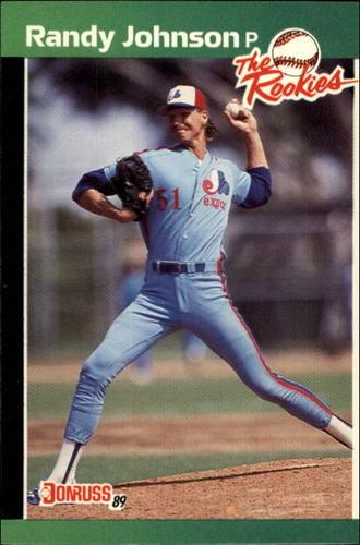 Photo of 1989 Donruss Rookies #43 Randy Johnson -- Montreal Expos