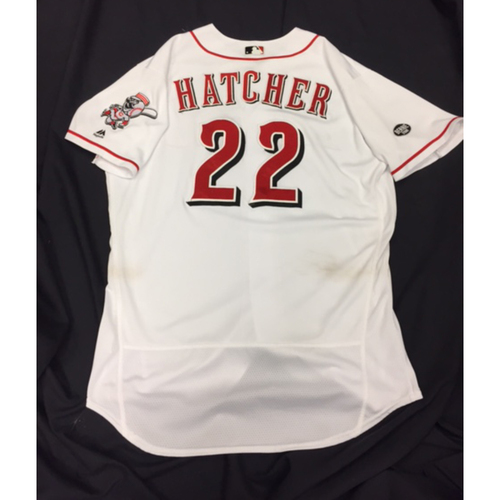 Photo of Game-Used Jersey - Billy Hatcher - Home White Jersey - 9/30/16 CHC vs. CIN