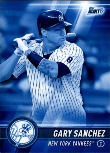 Photo of 2017 Topps Bunt Blue #101 Gary Sanchez