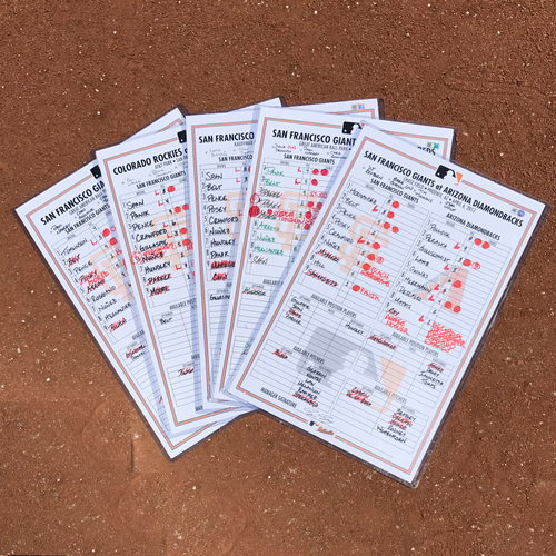 Photo of San Francisco Giants - 2017 Regular Season Lineup Card