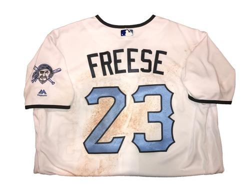 Photo of David Freese Game-Used Father's Day Weekend Jersey - Worn on 6/17 & 6/18