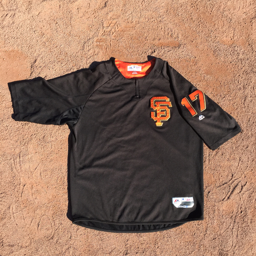 San Francisco Giants - 2017 Game-Used Batting Practice Jersey Worn by #17 Jose Alguacil (Size: XL)