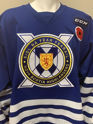 Jocktan Chainey Game Worn Memorial Cup Presented by Kia Military Theme Jersey