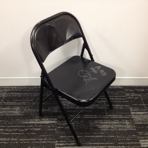 Rollins Chair: Seth Rollins SIGNED Chair Used At Money In The Bank 2014