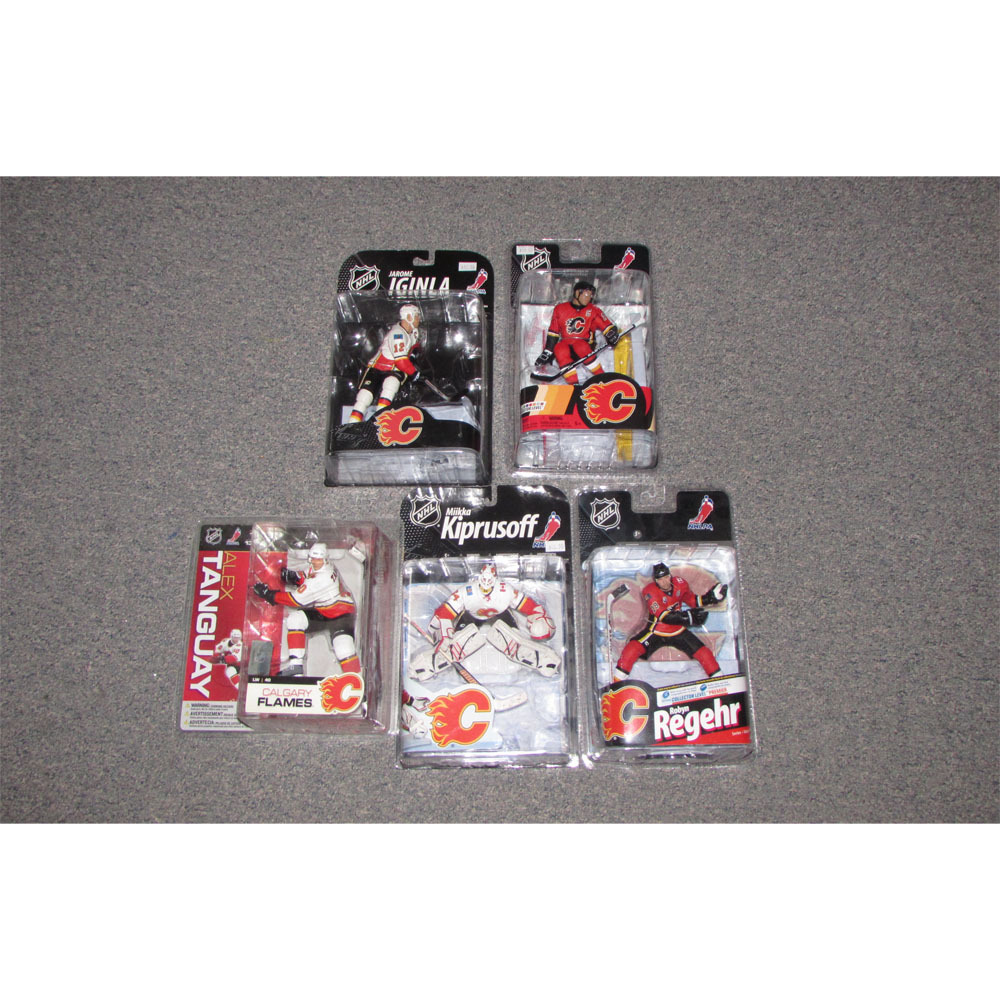 Calgary Flames McFarlane Figurine Lot - Five Figures