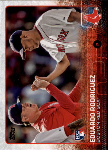 Photo of 2015 Topps Update #US127B Eduardo Rodriguez/High-five