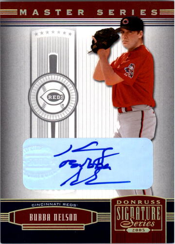 Photo of 2005 Donruss Signature Autograph Gold MS #43 Bubba Nelson/50