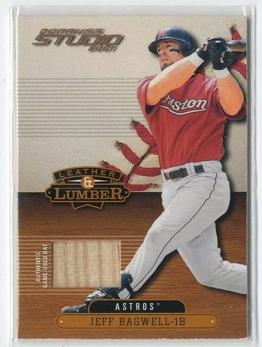 Photo of 2001 Studio Leather and Lumber #LL8 Jeff Bagwell SP
