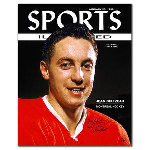 Jean Beliveau SI Montreal Canadiens Autographed 16x20 LTD/44
