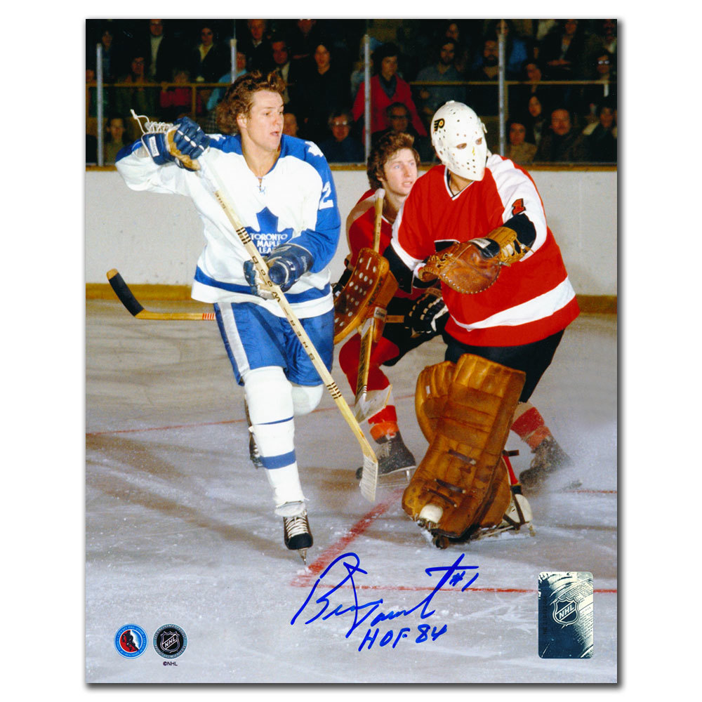 Bernie Parent Philadelphia Flyers vs. SITTLER Signed 8x10