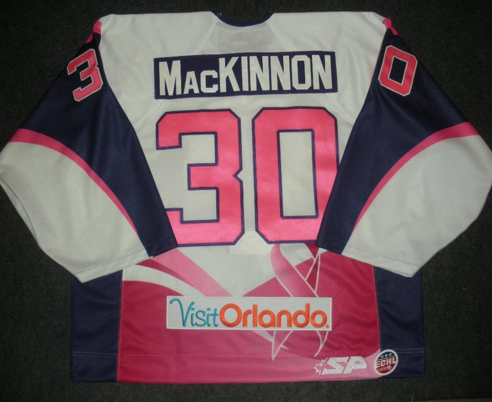Ross MacKinnon - Orlando Solar Bears - Hockey Fights Cancer Game-Worn Back-Up Only Jersey