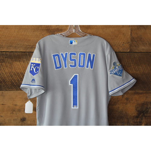 Photo of Jarrod Dyson Game-Used Jersey: KC at CLE - Sep 21, 2016